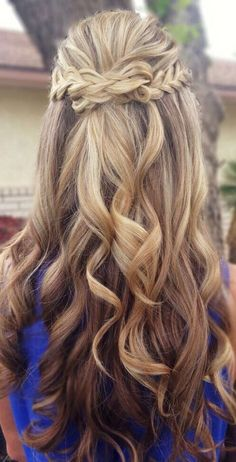 10 Latest Half-Up Half-Down Wedding Hairstyles   Trendy Hairstyles 2015 / 2016 for long, medium and short hair