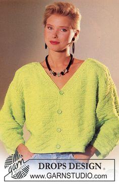 Drops Short jacket in Retinella Free pattern by DROPS Design.