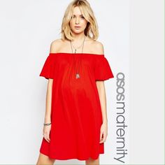 Shop Women's ASOS Maternity Red size Various Mini at a discounted price at Poshmark. Description: ASOS Maternity red off the shoulder cotton swing dress. Sizes are listed in US sizes.   Visit our shop to see other trendy and modern maternity & baby items!  ✖️ trades  ✖️ try-on's  ✖️ low-ball offers please!  ✔️ bundle discount offered!. Sold by babybumpshop. Fast delivery, full service customer support.