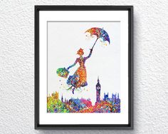 Hey, I found this really awesome Etsy listing at https://www.etsy.com/listing/222655227/mary-poppins-watercolor-illustrations
