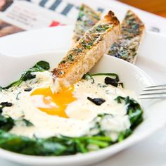 Baked Eggs with Black Garlic and Buttered Soldiers - Red Online