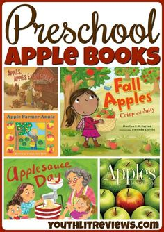 With a mix of fiction and nonfiction, this list of apple books for preschoolers is perfect for a home library or preschool classroom! Preschool Books, Preschool Classroom, Preschool Apples, Preschool Cooking, Kindergarten, Vocabulary Activities, Book Activities, Apple Activities, Read Aloud Books
