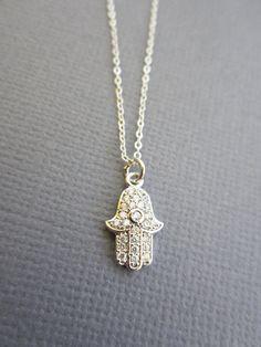 Protection Jewelry Tiny Hamsa necklace Dainty Hamsa by Muse411