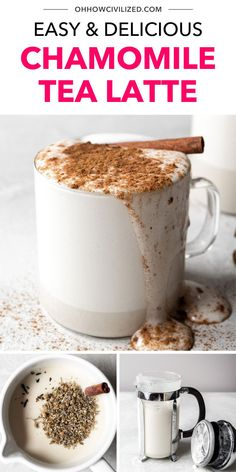 Take your herbal tea game to the next level with this delicious chamomile tea latte. See how easy it is to make perfect latte froth using a French press in just 8 minutes from start to finish.