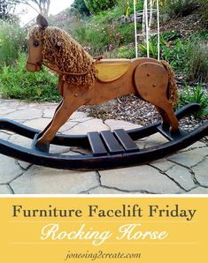 Furniture Facelift Friday: Repainted Rocking Horse | Jonesing2CreateJonesing2Create
