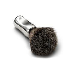 Elsa Peretti® Thumbprint shaving brush in sterling silver.
