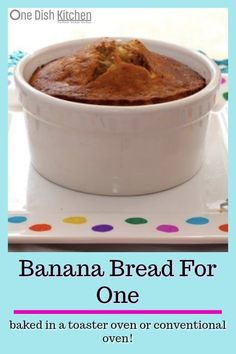 This Banana Bread Recipe for One is the perfect size to satisfy a sweet craving. - This Banana Bread Recipe for One is the perfect size to satisfy a sweet craving. It's easy to mak - Mug Recipes, Dessert Recipes, Cooking Recipes, Healthy Recipes, Recipes For One, Easy Recipes, Healthy Food, Vegetarian Cooking, Buffet Recipes