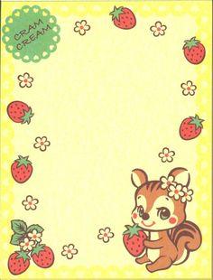squirrel strawberry mini Memo Pad flowers - Memo Pads - Stationery - kawaii shop modeS4u