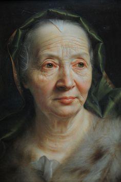 christianseybold, copper, woman, german artist, christian seybold, paint, scarves, portraits, green scarf