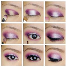 Purple smoky eyes with highlight in the center using Sleek Makeup iDivine Showstopper - Kirei Makeup