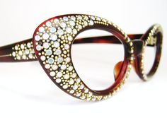 Vtg Cat Eye Eyeglasses Eyewear Sunglasses by Vintage50sEyewear