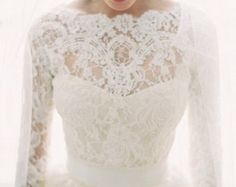 NEW FABRIC WHITE color Featured in the Style Me Pretty Fashion & Beauty Magazine 2013 bridal lace top bridal lace lace bolero by angelikaliv Vera Wang Gowns, Bolero Pattern, Lace Bolero, Beauty Magazine, Dress Picture, French Lace, Bridal Lace, Fashion Beauty, Trending Outfits