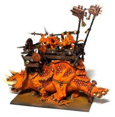 Lizardmen Orange Stegadon Complete - http://www.the-vanus-temple.com/lizardmen-orange-stegadon-complete/