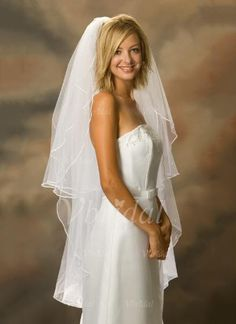 Wedding Veils - $16.99 - Two-tier Waltz Bridal Veils With Pencil Edge (00605003645)