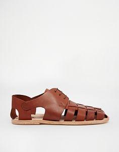 e2c8f9a9d97 Agrandir H By Hudson - Chaussures en cuir tressé Leather Weaving