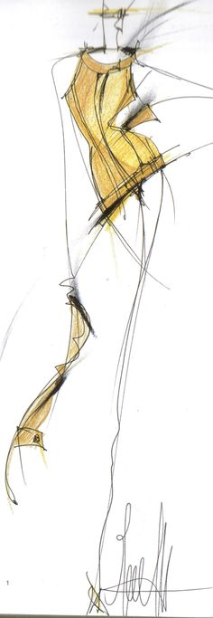 Gianfranco Ferre fashion illustration