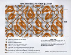 Intricate knitting pattern. Love to make a sample just for my eyes.