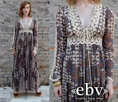 Vintage Hippie Dress Vintage Gunne Sax Dress Vintage by shopEBV, $125.00