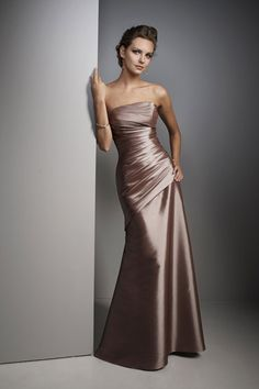 Brown Prom Dresses, Floor Length Bridesmaid Dresses, Dresses For Prom Brown Prom Dresses, Formal Dresses, Wedding Dresses, Formal Prom, Dresses 2014, Dresses Dresses, Gown Wedding, Formal Wedding, Satin Dresses