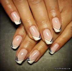 Best French Manicure Tips Gel Classy 70 Ideas nailartdesigns French Manicure Nails, Manicure E Pedicure, French Tip Nails, Gel Nails, French Pedicure, Pedicure Ideas, Classy Nails, Fancy Nails, Trendy Nails