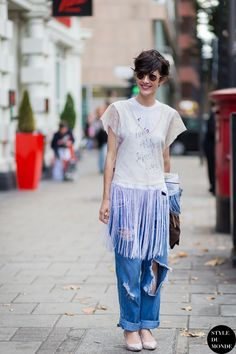 Violaine Bernard Street Style Street Fashion Streetsnaps by STYLEDUMONDE Street Style Fashion Photography