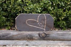 Carved heart & initials - perfect for Valentine's Day!  #5thanniversary #wood