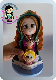 Virgencita de Guadalupe Biscuit, Cute Polymer Clay, Pasta Flexible, Diy Projects To Try, Craft Tutorials, Fondant, Princess Zelda, Crafty, Religion