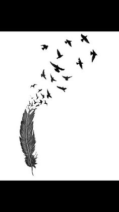 Would like to have this on my arm to cover up my tribal but a different feather. Love to have the birds wrap around to my shoulder blade & down my back for all the loved ones I lost.