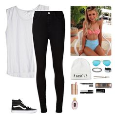 """""""Ootd//Kenzie"""" by crazymofo1234 ❤ liked on Polyvore featuring AG Adriano Goldschmied, Vans, Ray-Ban, Givenchy, Charlotte Tilbury, Stila, Urban Decay and le top"""