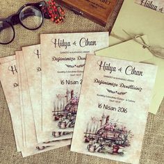 Davetiye / Wedding invitation www.masalsiatolye.com #masalsiatolye #davetiye #weddinginvitation #vintage