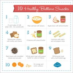 10 Quick & Healthy Bedtime Snacks (that help promote sleep!) #CloudB