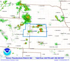 SPC Severe Thunderstorm Watch 464 Status Reports - http://blog.clairepeetz.com/spc-severe-thunderstorm-watch-464-status-reports/
