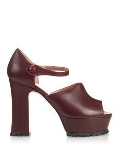 Leather platform Mary-Jane sandals   REDValentino   MATCHESFASHION.COM