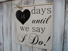 Count Down to Wedding Chalkboard Calendar by SpellboundDesignCo, $19.00