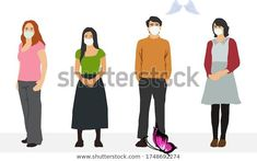 Group People Wearing Medical Masks Keep Stock Vector (Royalty Free) 1748692274 Find Group People Wearing Medical Masks Keep stock images in HD and millions of other royalty-free stock photos, illustrations and vectors in the Shutterstock collection.  Thousands of new, high-quality pictures added every day.<br> Black Pipe, Kylie Jenner, Selena Gomez, Masks, Vectors, Royalty Free Stock Photos, Medical, Illustrations, Group