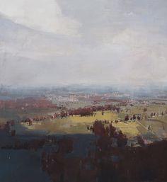 """Crimson Vally"" 60"" x 66"" oil on canvas Chelsea Bentley James"