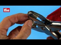 Prym Pliers for Press Fasteners, Eyelets, & Piercing - YouTube