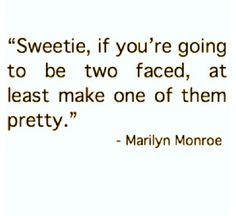 Two faced, Marilyn Monroe