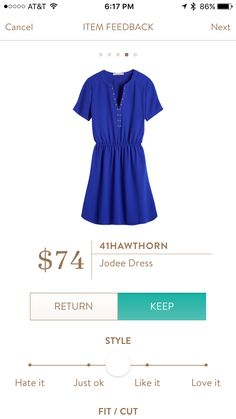 This is exactly the type of dress I love to wear to work in the warmer seasons. Love this cobalt blue color.