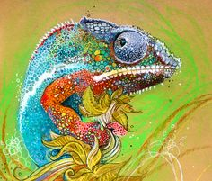 chameleon, by Sharlena Wood