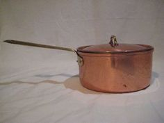 TAGUS COPPER 1 1/2 QT SAUCE PAN WITH LID MADE IN PORTUGAL