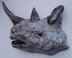 Driftwood Sculpture of Rhino Head, by The Craft-e-Art Company Driftwood Sculpture, Glass Marbles, Whale, Art Pieces, Sculptures, The Incredibles, Craft, Artist, Animals