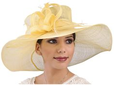 2ca937286cf Jasmine Wide Brim Sinamay Hat Az-Tex Hat Company Sinamay Hats