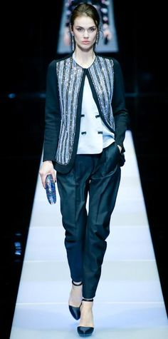 Runway Looks We Love: Giorgio Armani - Fall/Winter 2015 from #InStyle