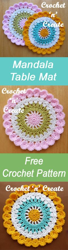Mandala table mat | free crochet pattern | #crochet
