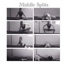 middle splits stretches