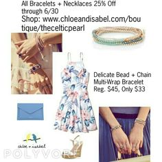 Today's Featured Product: Delicate Bead + Chain Multi-Wrap Bracelet Reg. $45, Now only $33 through 6/30  Shop:  https://www.chloeandisabel.com/boutique/thecelticpearl/products/B336LB/delicate-bead-+-chain-multi-wrap-bracelet-1    #Summer #love #daily #product #Featured #MultiWrap #Bracelet #convertible #MultipleLooks #multiplestyles #headwrap #necklace #metallic #opal #topaz #amethyst #pink #jewelry #fashion #accessories #style #shopping #shop #trendy #boutique #chloeandisabel…