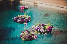A Classic Sonoma Wedding With a Few Twists Floating Pool Decorations, Wedding Colors, Wedding Styles, Cuba Wedding, Floating Flowers, Sexy Wedding Dresses, Got Married, Flower Arrangements, Pugs