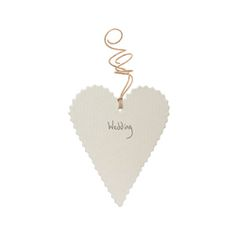 East Of India - Gift Tag - Heart Wedding