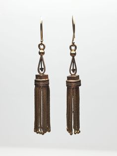 Lippa's Estate and Fine Jewelry - 14 Karat Yellow Gold Victorian Tassel Earrings with Black Enamel, $1,500.00 (http://lippas.com/14-karat-yellow-gold-victorian-tassel-earrings-with-black-enamel/)